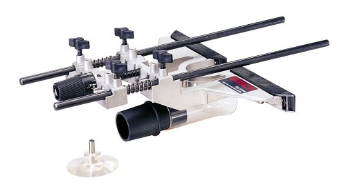 Bosch Deluxe Router Edge Guide With Dust Extraction Hood & Vacuum Hose Adapter - Cutting Tenon Jig