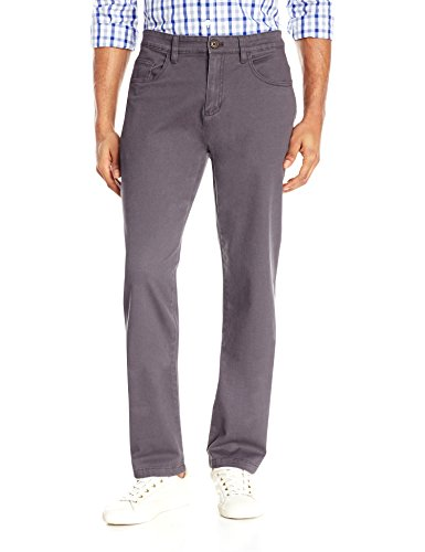 Goodthreads Men's Athletic Fit 5-Pocket Chino Pant, Grey, 36W x 34L