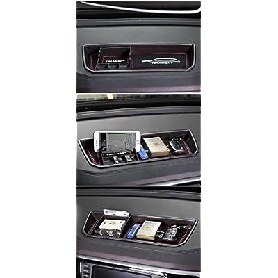Vesul Interior Dashboard Storage Box Organizer Holder Fits on VW Volkswagen Atlas 2020 2020 (Brown): Automotive