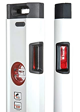 Kapro 905-41-72 Condor Professional Box Level with Optivision Red and Plumb Site Dual View Vial 72-Inch Length