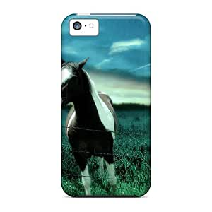 LJF phone case Tpu Case For ipod touch 4 With Caballo Y Pradera