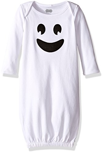 Mud Pie Baby Holiday One Piece Sleepgown, Ghost, 0-6 (Baby Girl Gown Mud Pie)