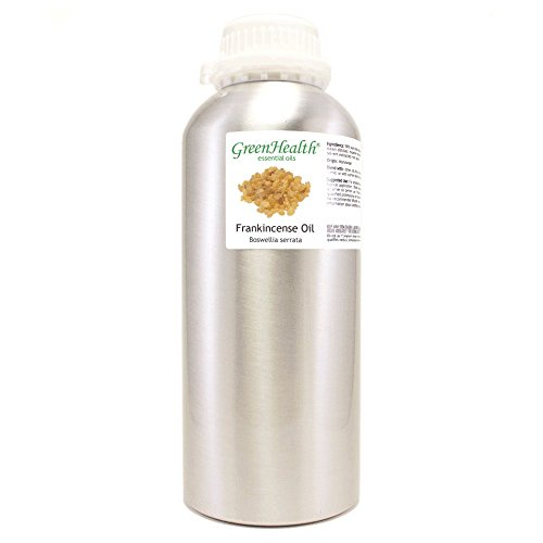 Frankincense – 32 fl oz (946 ml) Aluminum Bottle w/Plug Cap – 100% Pure Essential Oil – GreenHealth