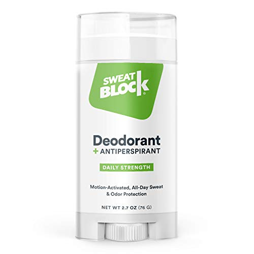 SweatBlock Antiperspirant Deodorant for Men and Women, Regular Strength, Solid (The Best Deodorant For Sweaty Armpits)