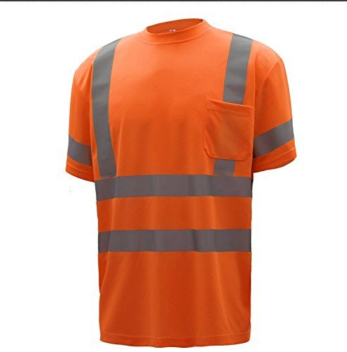 CJ Safety CJHVTS3001 ANSI Class 3 High Vis Long Sleeve Safety Shirt Moisture Wicking Mesh (Extra Large, Orange) by CJ Safety