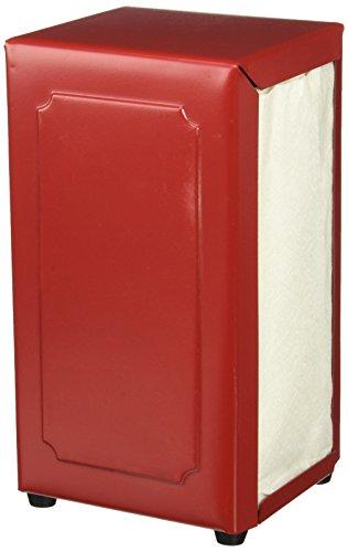 TableCraft BBQ2211 BBQ Steel 8-Inch Napkin Holder, Small, Red by Tablecraft