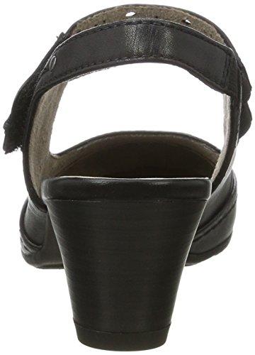 Jana 29500, Zapatos de Talón Abierto para Mujer Negro (Black 001)