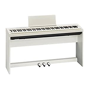 roland fp 30 whc portable 88 key digital piano with stand pedal board white. Black Bedroom Furniture Sets. Home Design Ideas