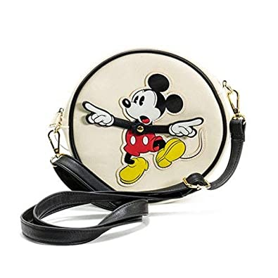 Loungefly x Disney Mickey Mouse Clock Arms Circle Crossbody Bag SG/_B07JHHWVLJ/_US
