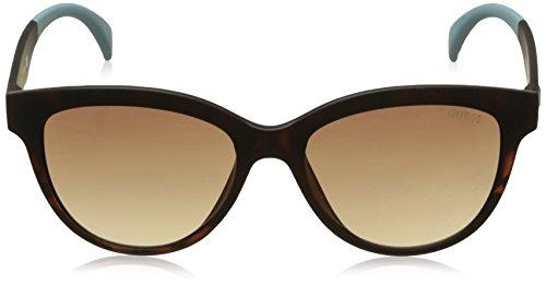 para Marrón Gafas 53 Sol de Havana GU7433 Mujer GUESS Bianco qYOwI6
