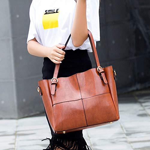 Di Tracolla Borsa A Borsa Vintage A Moda Da Da Donna Brown Tracolla Donna wxqqTYgaz