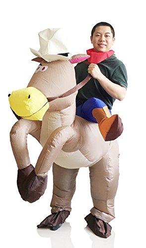 Costume Adulto Costume Gonfiabile Vestito Marrone Gonfiabile Saltare Cowboy Yunzhenbusiness Cavallo Cavallo Costume Vestito In 6pBqfdW