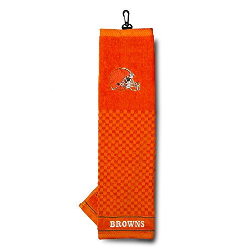 - Team Golf NFL Cleveland Browns Embroidered Golf Towel, Checkered Scrubber Design, Embroidered Logo