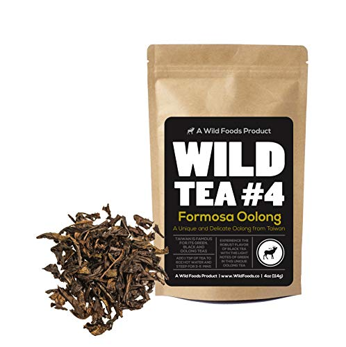 Organic Oolong Tea, Wild Reserve Mountain Oolong Loose Leaf Chinese Tea by Wild Foods (4 ounce)