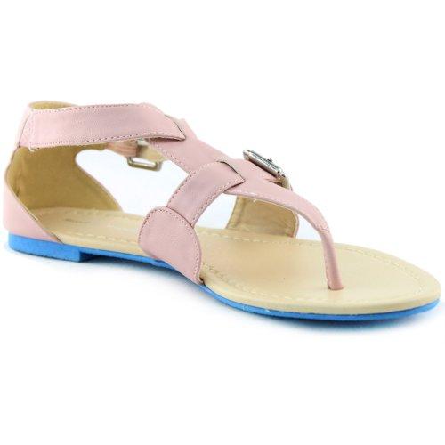 Gladiador De Mujer Casual Correa Cruzada Hebilla Pisos Sandalias De Playa De Verano Sexy Zapatos De Moda Taupe Pu