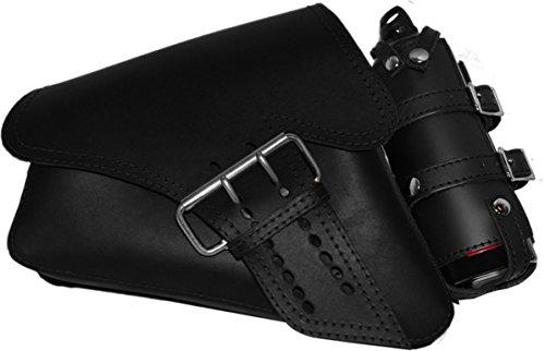 La Rosa Design 04-UP Harley Davidson Sportster/Nightster/883 Iron/XL1200 Left Side Saddle Bag /Swingarm Bag with Fuel Bottle ()