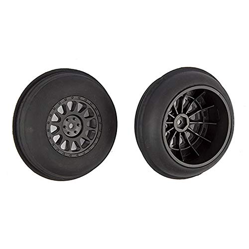 (Team Associated Sand Ribbed Tires & Method SC Wheels, Mounted Black Front, ASC71063)