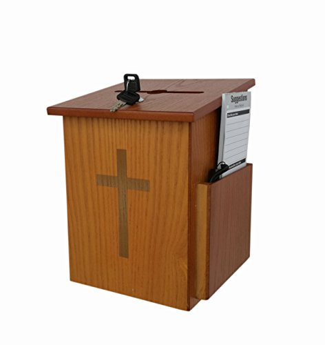 FixtureDisplays Church Collection Fundraising Box Suggestion Box Donnation Charity Box 10885 10885 by FixtureDisplays
