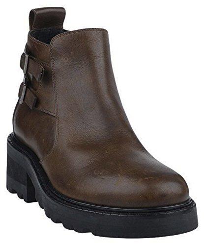 Maison Margiela 22 Men's 'Big Brown Buckle' Lug-Sole Platform Boots (10 US/43 - Margiela Maison Logo