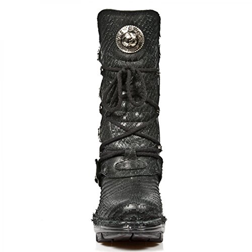 New Rock Neo Trail Damen Leder Schwarz Stiefel M.NEOTR005-S9 Black