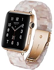Sport Armband, kompatibel med Apple Watch Strap 40mm 38mm 42mm 44mm, harts ersättningsband för LWatch Series 5/4/3/2