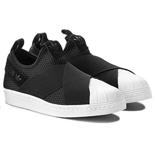 adidas Originals Womens Superstar Slipon W Sneaker (9, Core Black/Core Black/Footwear White) ()