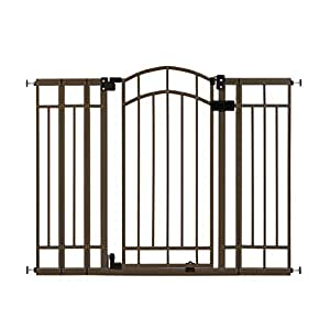 """Summer Multi-Use Decorative Extra Tall Walk-Thru Baby Gate, Metal, Bronze Finish – 36"""" Tall, Fits Openings up to 28.5"""" to 48"""" Wide, Baby and Pet Gate for Doorways and Stairways"""