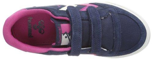 hummel HUMMEL STADIL JR CANVAS LOW 63-633-7429 - Zapatillas de lona para unisex-niño Azul (Blau (BLUE NIGHTS/RASPBERRY))