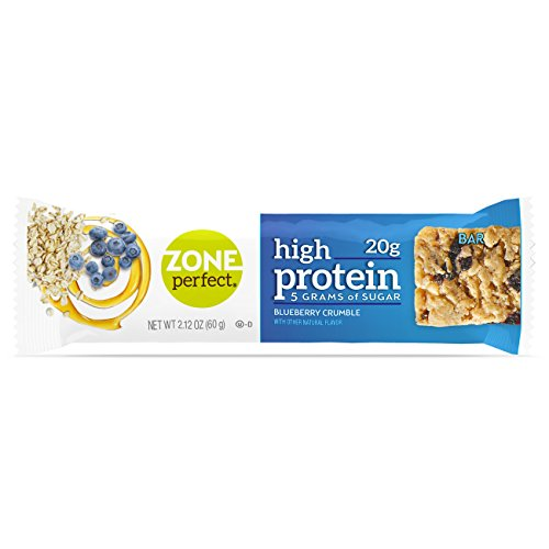 ZonePerfect High Protein Nutrition Snack Bars, Blueberry Crumble, 2.12 oz bars (16 ()