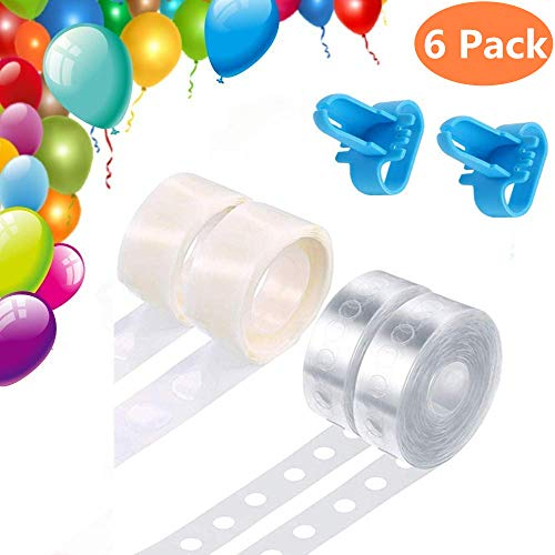 Junboys Balloon Decorating Strip Kit for Arch Garland 32Ft Balloon Tape Strip, 200 Glue Dots, 2 Pcs Tying Tools, Great Value Set for Party Wedding Birthday Baby Shower DIY Xmas Decorations, Reusable.