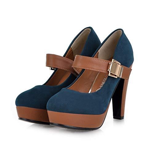 Tall Pour Hauts cocktail Femme Soirée Et à Talons Talons Noble Chaussures Bleu Élégant mariages Sexy Sunnywill banquets w4TqfYP