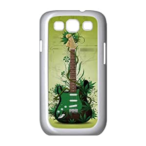 Samsung Galaxy S3 Cases Green Guitar for Teen Girls, Samsung Galaxy S3 Case Case for Teen Girls [White]