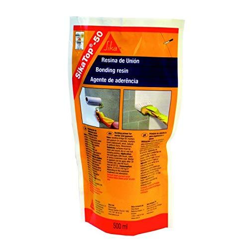 SikaTop 50 Resina de Unión, Imprimación de adherencia para morteros y yesos, 500ml, Blanco product image