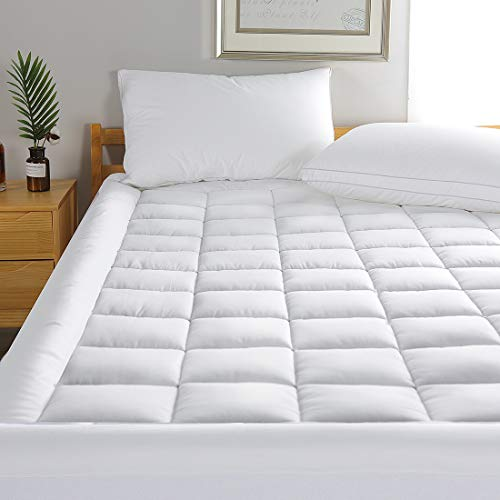 MINCOCO Queen Cotton Mattress Pa...