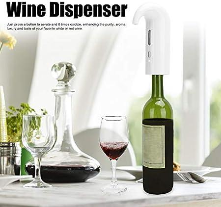 Haowecib Aireador de Vino eléctrico, vertedor de aireador de Vino, fácil Limpieza para Mejorar el Sabor y Mejorar la pureza vertedor de aireación Accesorio Sommelier(White)