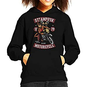 Coto7 Steampunk Motorcycle Kid's Hooded Sweatshirt