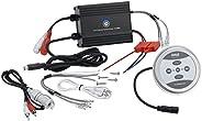 Jovial Waterproof Bluetooth Marine Amplifier Receiver - Weatherproof 2 Channel Wireless Amp for Stereo Speaker