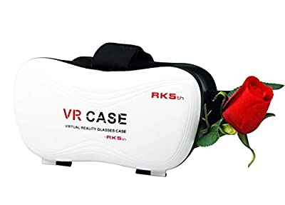 3D VR Headset 5th Generation VR mount Virtual Reality Glasses Google Cardboard 3D Glasses Upgraded Version Virtual Reality 3D Video Glasses for Smartphone 3.5 inch to 6 inch