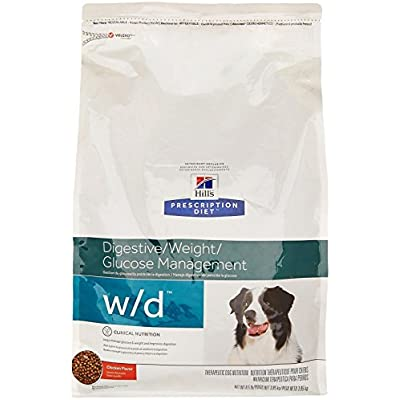 Hill's Pet Nutrition W/D Multi-Benefit Digestive/Weight/Glucose/Urinary Management Chicken Flavor Dry Dog Food, 8.5 lb Bag