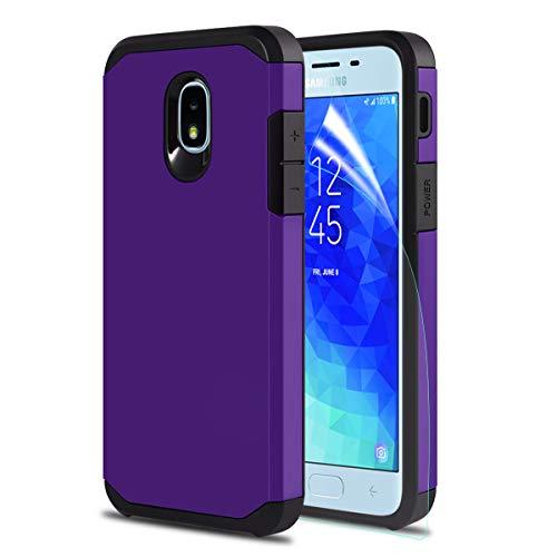 - Donse Samsung Galaxy J3 Orbit Case, J3V J3 V 3rd Gen/Express Prime 3/J3 Star/J3 Achieve/Amp Prime 3/ j3 2018 Phone Case [HD Screen Protector] Dual Layer Hybrid Protective Men and Women Ge (Purple)