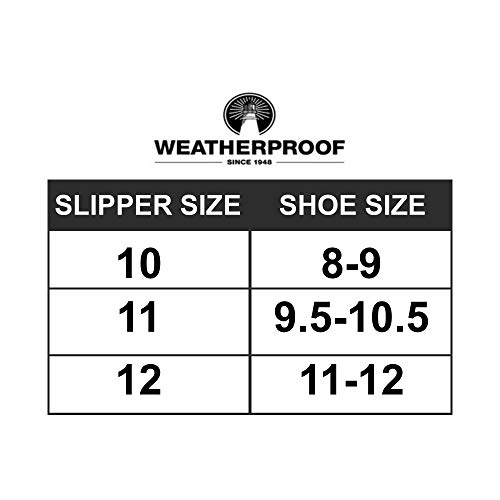 Weatherproof Men's Nylon Puffer Camping Slipper Indoor/Outdoor House Shoe with Collapsible Back, Light Navy, Large