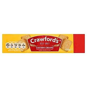 Crawfords Custard Creams - 150g - Pack of 4 (150g x 4)