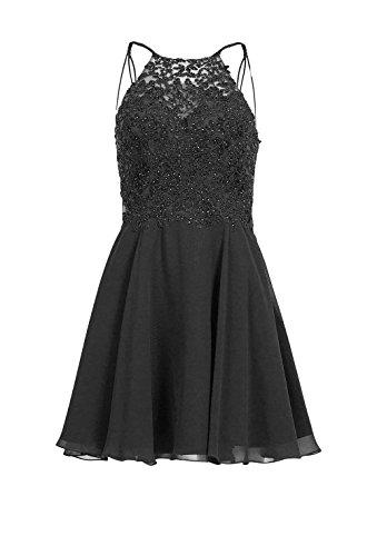 Abendkleider Braut Promkleider La Damen Attraktive Cocktailkleider 2018 Spitze A Festlichkleider Kleider Neu Linie Schwarz mia BUwfwI