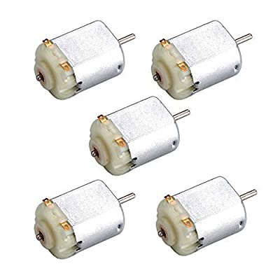 BestTong 5PCS Micro Mini Electric 130 Motor DC 1.5-3V 15400 RPM Cars Toys Electric Motor, High Speed Torque DIY Remote Control Toy Car Hobby Motor, Motor Kit for Toys DIY Science Experiments