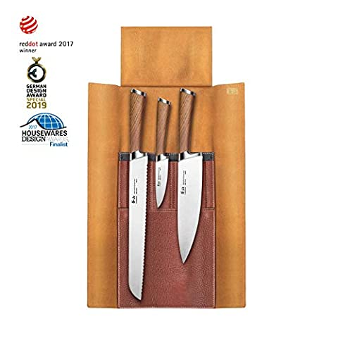 Cangshan H1 Series 4 Piece Leather Roll Knife Set, Silver - Sale: $166.57 USD (15% off)
