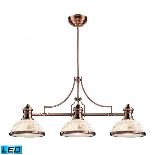 Elk Lighting 66445-3-LED Island Light Antique Copper