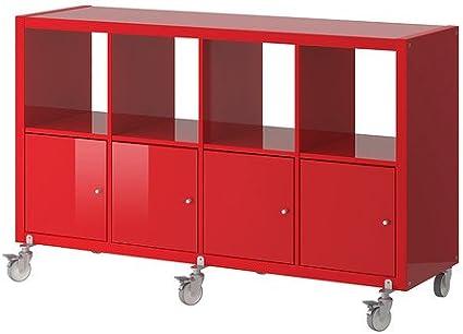 IKEA Kallax - Estanterías unidad / 4 puertas / ruedas, de ...