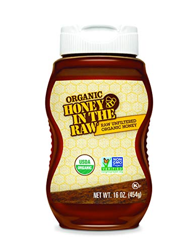 Honey In The Raw Unfiltered Organic Honey, 16-Ounces