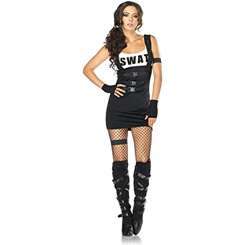Sultry Swat Officer Adult Womens Costumes (Sultry SWAT Officer Adult Costume - Small/Medium)