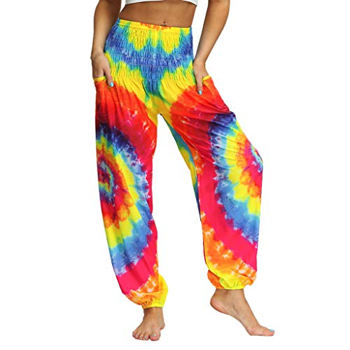 Women's Boho Pants Hippie Clothes Yoga Legging Outfits Print Design One Size Fits -